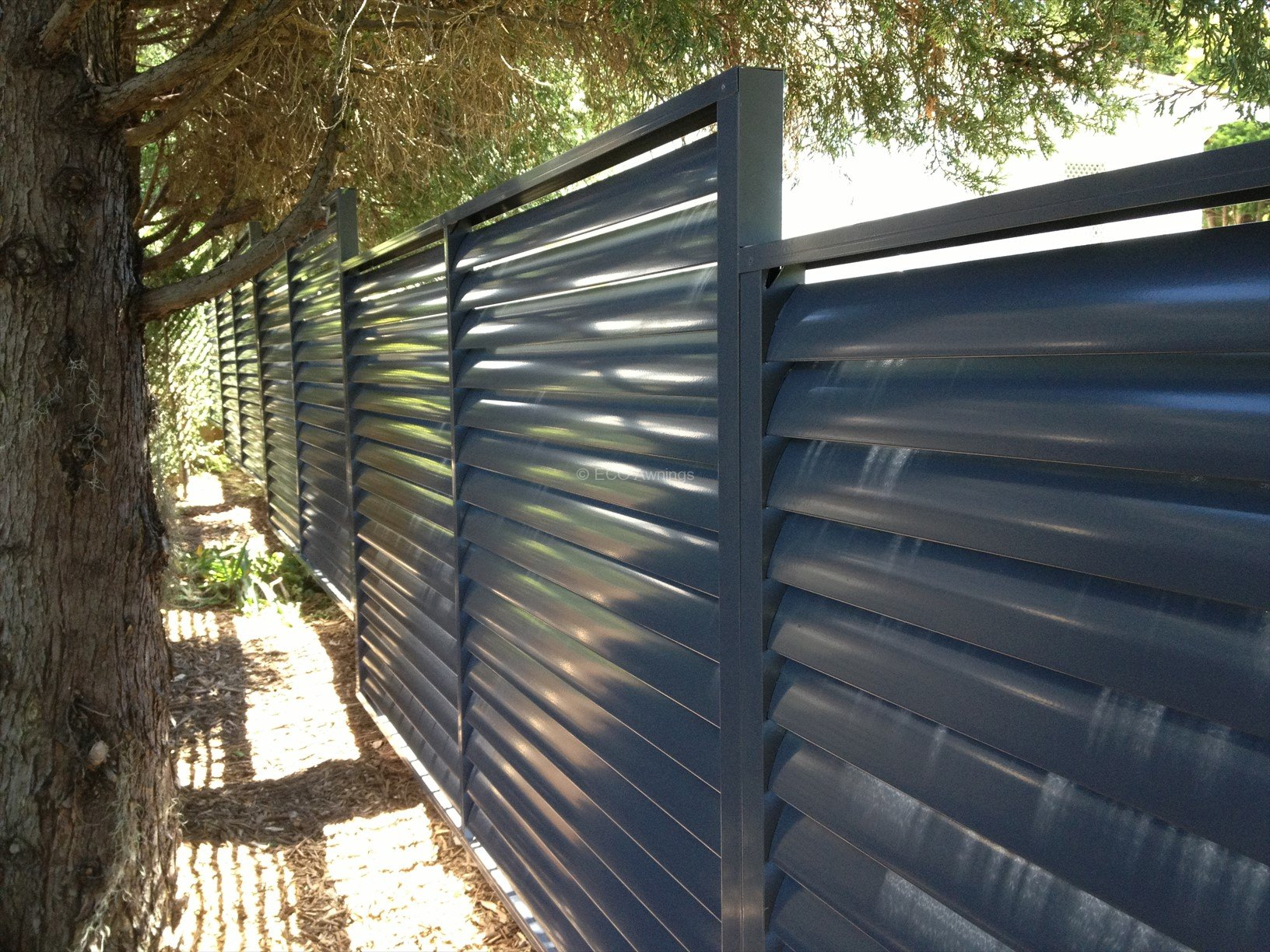 louvers fence with fixed welded louvers eco awnings