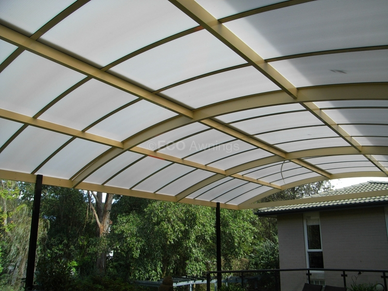 Domus lumina and barrel vault awnings eco awnings for Barrel vault roof