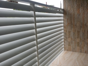160 mm Louvers used as a privacy screen  a