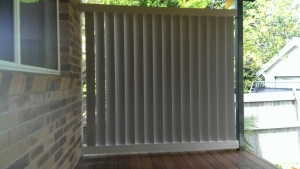 160mm Louver used as a privacy screen