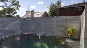Privacy screen pool fence 1