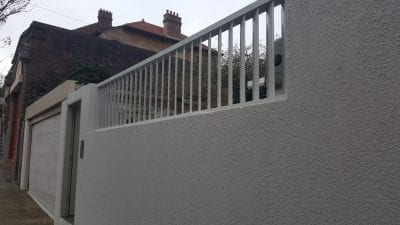 Privacy Screen louver Fence with 160 fixed vertical blades