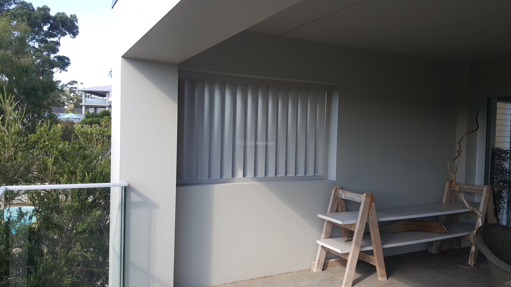 Privacy Screen Louver With 160 Fixed Vertical Blades