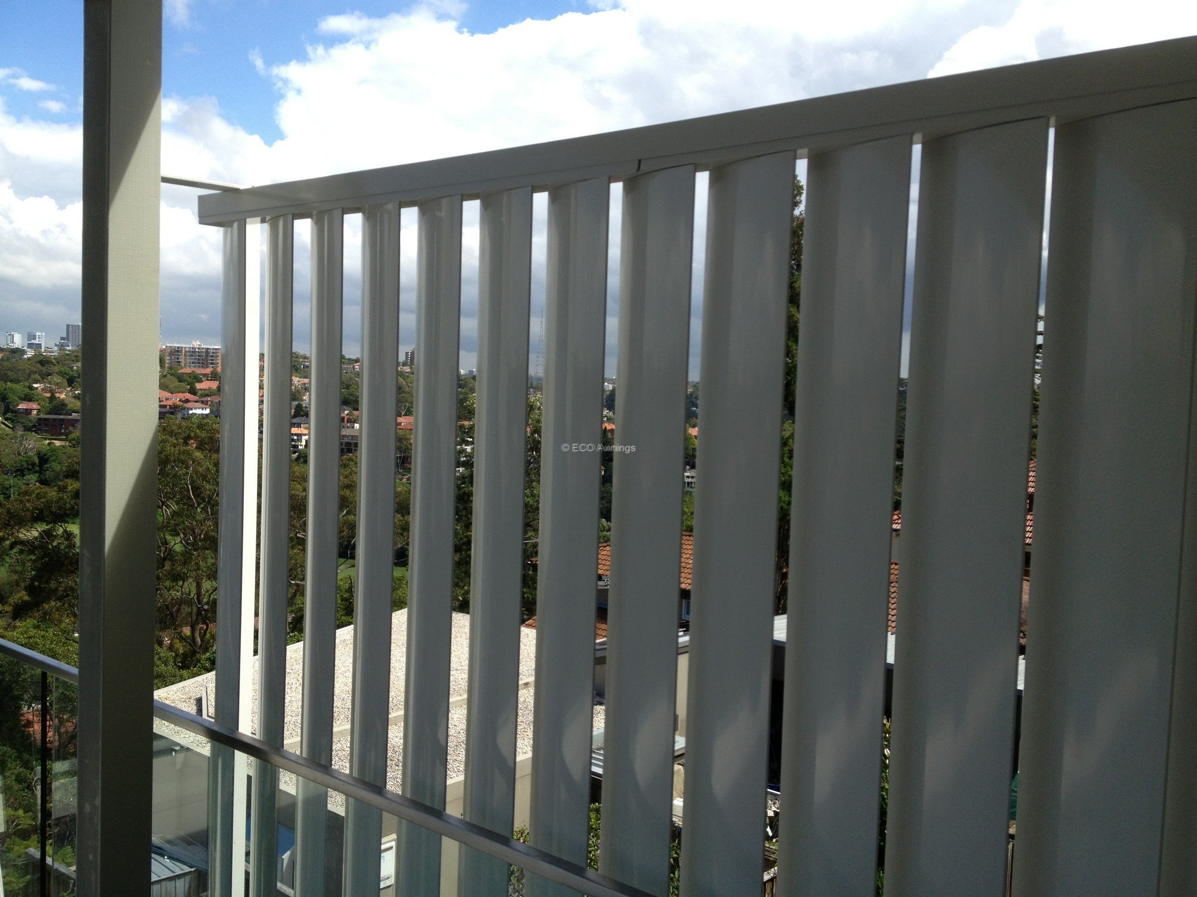 Privacy Screen Louver With 160mm Fixed Vertical Blades