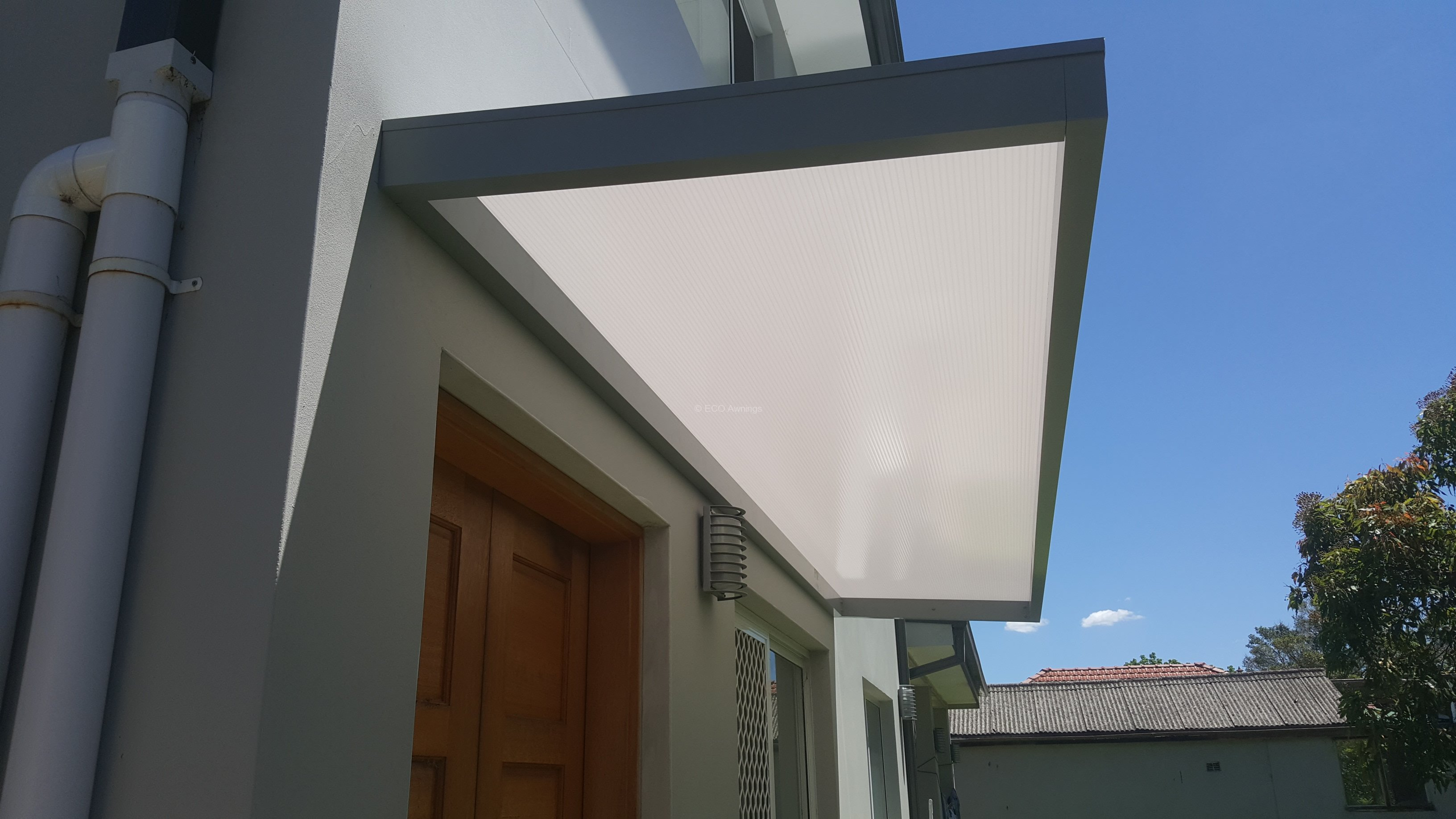 Slimline Awnings Over Rear Door And Side Window Eco