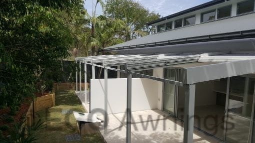 Retractable Polycarb awning