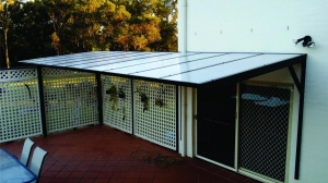 Canter Lever Polycarb awning 1