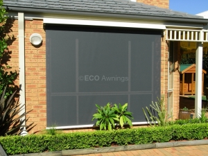 Straight Drop Awnings Roll Up Awnings Eco Awnings