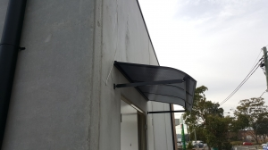 Door awning with Bull Nose